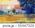 景色 風景 樹木のイラスト 35447320