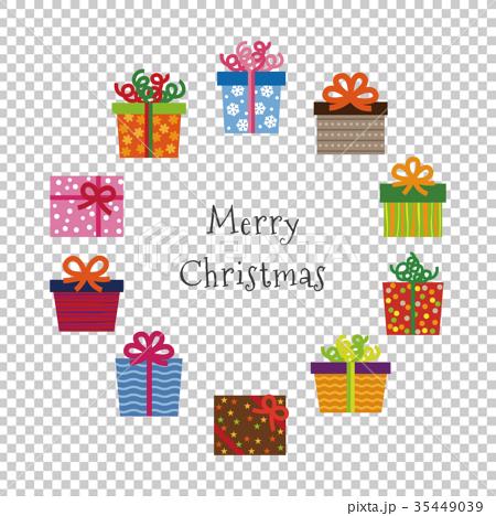 カラフルなクリスマスプレゼントのイラスト 35449039