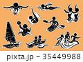 スポーツ アイコン 記号のイラスト 35449988
