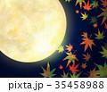 月 もみじ 秋のイラスト 35458988