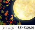 月 もみじ 秋のイラスト 35458989