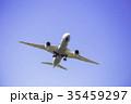 離陸した飛行機  ボーイング787 35459297