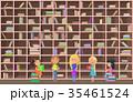 ライブラリ 図書館 子のイラスト 35461524