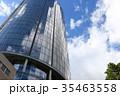 ビルに映る雲と青空 35463558
