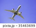 離陸した飛行機  ボーイング787 35463699