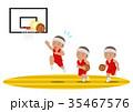 バスケットボール レイアップシュート 失敗 黒人 35467576