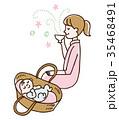 リラックス お母さん 赤ちゃん 35468491
