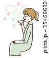 リラックス ティータイム 女性 35468632