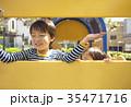 公園で遊ぶ子供達 35471716