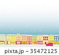 街並み クリスマス 雪 35472125