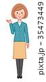女性 人物 案内のイラスト 35473449