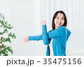 フィットネス 女性 ストレッチの写真 35475156
