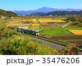 釜石線と遠野田園風景 35476206
