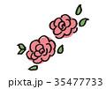 バラ 花 植物のイラスト 35477733