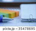 カレンダー ペン ビジネスイメージの写真 35478695