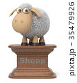 3d illustration funny sheep 35479926