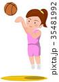 バスケットボール ジャンプシュート 女子 35481992