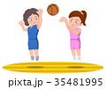 バスケットボール 女子 ジャンプシュート シュートブロック 35481995