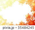 雪の結晶フォトフレームよこ(オレンジ) 35484245
