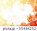 雪の結晶背景よこ(オレンジ) 35484252