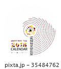 2018 カレンダー 暦のイラスト 35484762