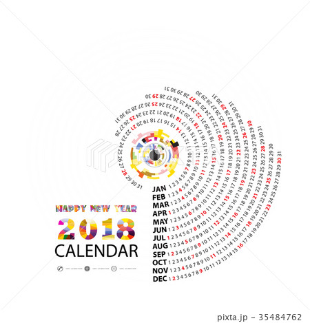 2018 Calendar Template.Calendar for 2018  35484762