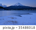 風景 河口湖 湖畔の写真 35486018