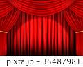レッドカーテン03 スポットライト, 3Dイラスト 35487981