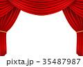 レッドカーテン07 , 3Dイラスト 35487987