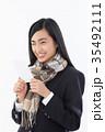 受験生 女子高生 高校生の写真 35492111