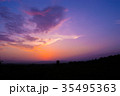 Sunset / sunrise with clouds, light rays  35495363