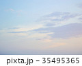 Sunset / sunrise with clouds, light rays 35495365