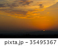 Sunset / sunrise with clouds, light rays 35495367