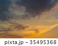 Sunset / sunrise with clouds, light rays 35495368