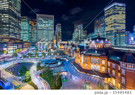 東京 東京駅周辺の夜景(丸の内側) 35495483