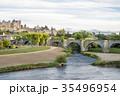 オード川と歴史的城塞都市カルカソンヌ 35496954