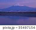富士山 朝焼け 紅富士の写真 35497154