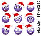 クリスマス 顔 面のイラスト 35499249