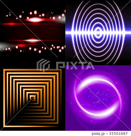 Set of Blurry abstract lines. Light effect. Sparkl 35501697