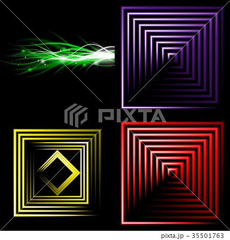 Set of Beautifully glowing neon abstract backgroun 35501763