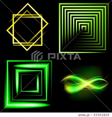 Set of Beautifully glowing neon abstract backgroun 35501829