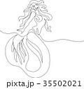 女性 マーメイド マーメードのイラスト 35502021