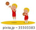 バスケットボール ジャンプシュート 黒人 35503383