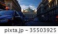 Traffic cars in front of Opera, Paris. 35503925
