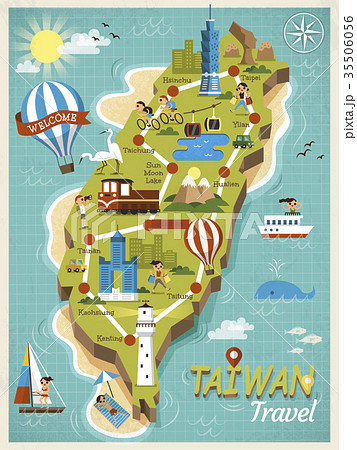 Taiwan travel concept map 35506056