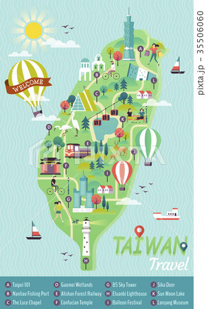 Taiwan travel concept map 35506060