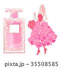 薔薇と香水とドレスの女性 35508585