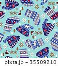 クリスマス ノルディック ノルディック柄のイラスト 35509210