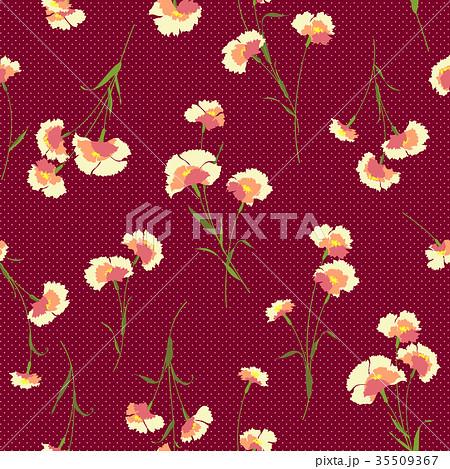 シームレスな花柄 35509367