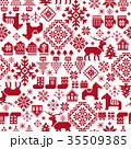 ノルディック柄 模様編み テキスタイルのイラスト 35509385